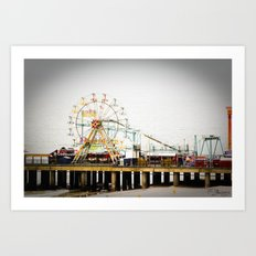 Steel Pier Art Print