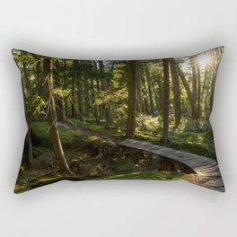North Shore Trails in the Woods Rectangular Pillow