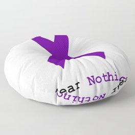 Fear Nothing: Purple Ribbon Awareness Floor Pillow