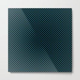 Black and Ocean Depths Polka Dots Metal Print