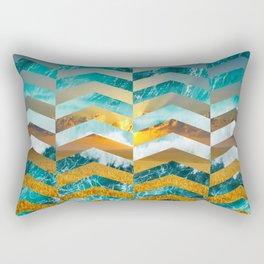Golden Lapas -Wide Chevrons Rectangular Pillow