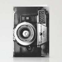 vintage camera Stationery Cards featuring Camera by Pauline Gauer
