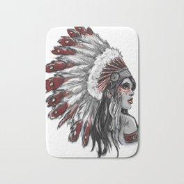 Red Indian Bath Mat