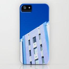 Miami Art Deco Hotel Against Clear Blue Sky iPhone Case