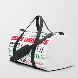 merry christmas in different languages II Duffle Bag