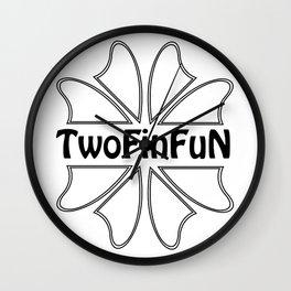 TwoFinFun Wall Clock