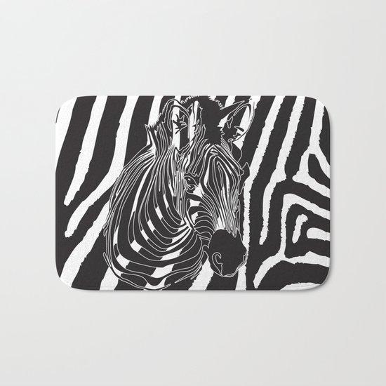 Zebra - Optical Art 5 Bath Mat