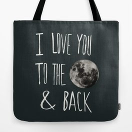 I Love You to the Moon Tote Bag