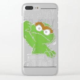 Sesame Street Oscar the Grouch Go Away T Shirt Clear iPhone Case