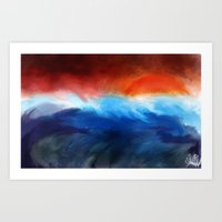 Ocean View. Art Print