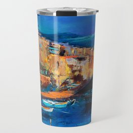 Night Colors Over Riomaggiore - Cinque Terre Travel Mug