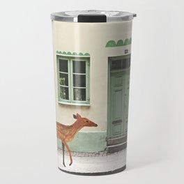 Deer in town Travel Mug