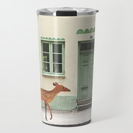 Deer in town Travel Mug