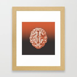 Puzzle brain GINGER / Your brain on puzzles Framed Art Print