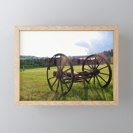 Old Wagon in the Field Framed Mini Art Print