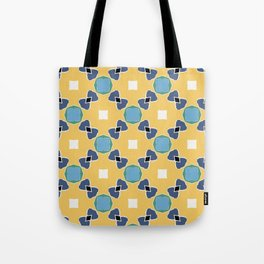 Tolkien ink blue and yellow pattern Tote Bag