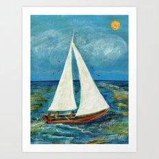 A Day at Sea Art Print