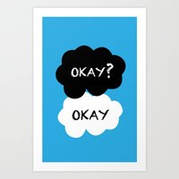 tfios Art Prints featuring TFIOS - Okay by //SOLIDS//