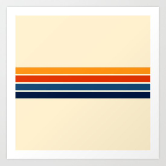 Classic Retro Stripes by alphaomega