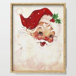 Vintage Santa 4 Serving Tray