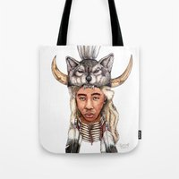 tyler the creator Tote Bags featuring WOLF / Tyler, The Creator by Daniel Cash