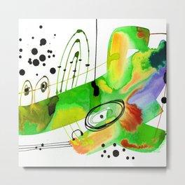 Abstract Serenade 4b by Kathy Morton Stanion Metal Print