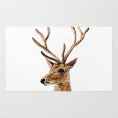 deer watercolor painting Rug