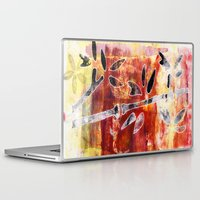bamboo Laptop & iPad Skins featuring bamboo by Kras Arts - Fly Me To The Moon