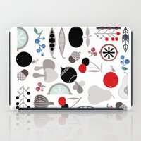 50s iPad Cases featuring Mushroom Berries Nuts and Fruits / Classic 50s pattern by In The Modern Era