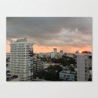 buildings Canvas Prints featuring Buildings by mowiskas