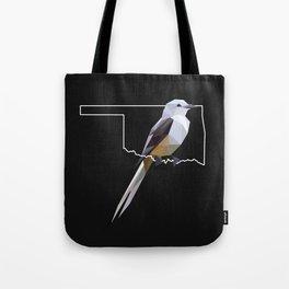 Oklahoma – Scissor-Tailed Flycatcher (Black) Tote Bag
