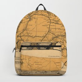 Greyhound Bus Line Map 1935 Backpack
