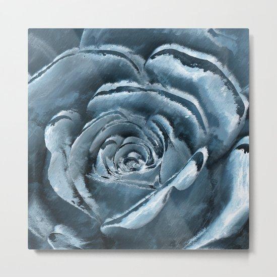The blue rose Metal Print