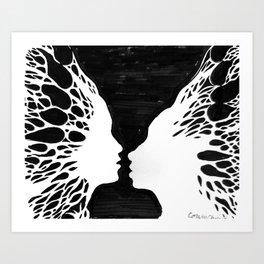 Love gives you butterlies Art Print