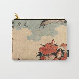 Hokusai Cuckoo and azaleas -hokusai,manga,japan,Katsushika,cuckoo,azaleas,Rhododendron Carry-All Pouch