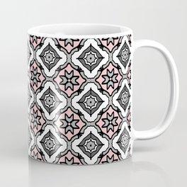 Pink Grey Pattern Coffee Mug