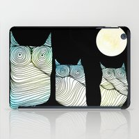 owls iPad Cases featuring Owls by Brontosaurus