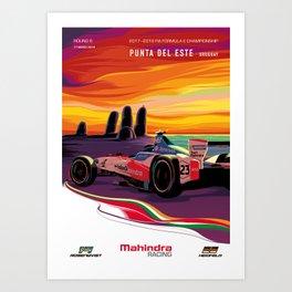 Mahindra Racing FIA Formula E Season 4 Punta Del Este E-Prix Poster Art Print