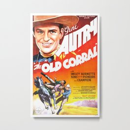 Vintage poster - The Old Corral Metal Print