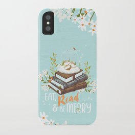 Eat, Read & Be Merry - Globe iPhone Case