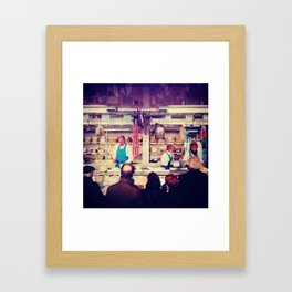 Old People Wait for their Meats & Cheeses Framed Art Print