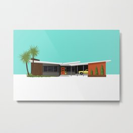 Mid Century House, Seattle Metal Print