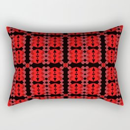 red and black abstract pattern Rectangular Pillow