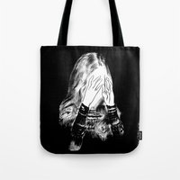 sarah paulson Tote Bags featuring Sarah by Taylor Wessling