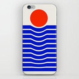Going down-modern abstract iPhone Skin