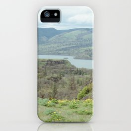 Tom McCall Preserve Looking Out at The Columbia River Gorge iPhone Case