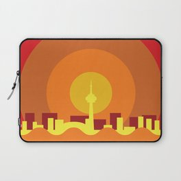 Toronto Minimalism Poster - Summer Red Laptop Sleeve