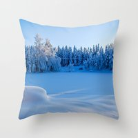 swedish Throw Pillows featuring Swedish Winter by Mark W