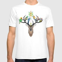 deer birds T-shirt