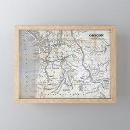 Vintage Map of Oregon Framed Mini Art Print